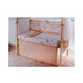 Бампер в кроватку Луняшки «Мой зоопарк» бежевый