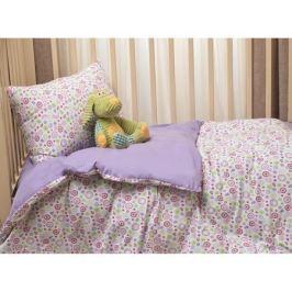 Комплект в кроватку Li-Ly «Фантазия» трикотаж, простыня на резинке 3 пр. сиреневый