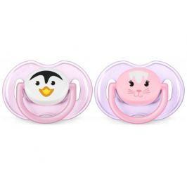 Пустышка Philips AVENT Classic «Животные» 0-6 мес. для девочки в ассортименте