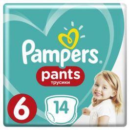 Трусики-подгузники Pampers Pants 6 (от 15 кг) 14 шт.