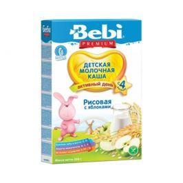 Каша молочная Bebi Premium «Активный день» рисовая с яблоком с 4 мес. 250 г