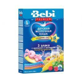 Каша молочная Bebi Premium «Сладкие сны» 3 злака с малиной и мелиссой с 6 мес. 200 г