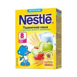 Каша молочная Nestle пшеничная с кусочками яблока и земляникой с 8 мес. 220 г