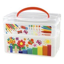 Ящик для игрушек Эконова «Art box» с ручкой 2 секции 5 л