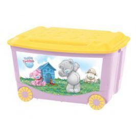 Ящик для игрушек Me to you на колесах розовый 50 л