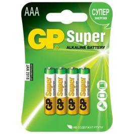 Батарейки GP Super AAА алкалиновые 4 шт.