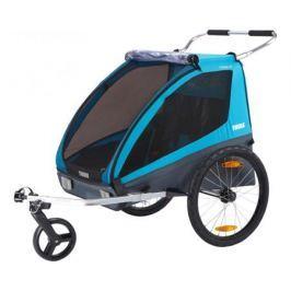 Детский двухместный велоприцеп Thule «Chariot Coaster2 XT» синий
