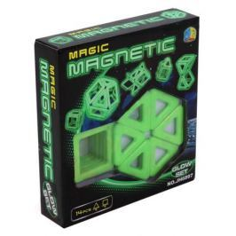 Конструктор магнитный 3D Xinbida светящийся 14 дет.