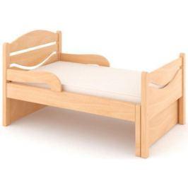 Кроватка Дом бука «Ростушка-Простушка» 70 см с бортиками и матрасом, лакированный бук