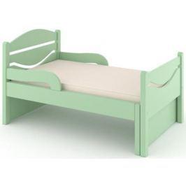 Кроватка Дом бука «Ростушка-Простушка» 80 см с бортиками и матрасом, зелёный