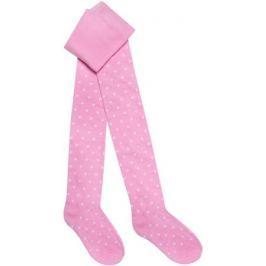 Колготки для девочки Barkito, розовые с рисунком в горошек