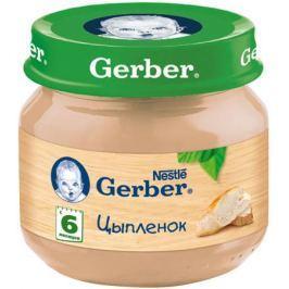 Пюре Gerber Цыпленок с 6 мес. 80 г