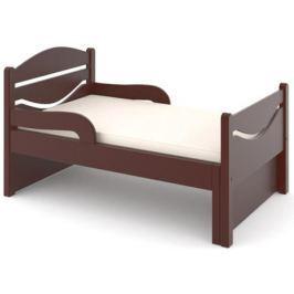 Кроватка Дом бука «Ростушка-Простушка» 70 см с бортиками и матрасом, венге