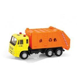 Машинка инерционная Play Smart «Мусоровоз» 1:54 оранжевый с желтым