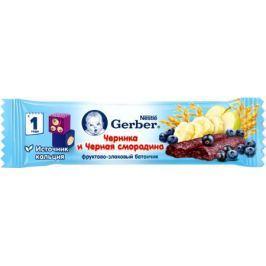 Батончик Gerber фруктово-злаковый с черникой и черной смородиной с 12 мес. 25 г