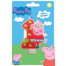 Свеча Peppa Pig «Цифра 1»
