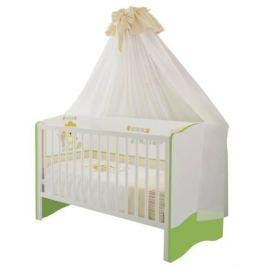 Кроватка Polini «Simple» белый-лайм