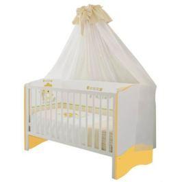 Кроватка Polini «Simple» белый-солнечный