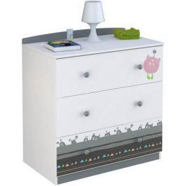 Комод Polini Basic «Монстрики» белый-серый