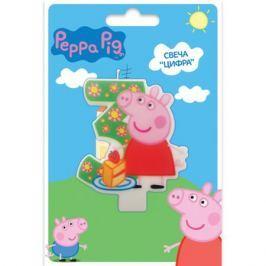 Свеча Peppa Pig «Цифра 3»