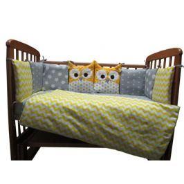 Комплект в кроватку Луняшки «Совята» 6 пр. желтый