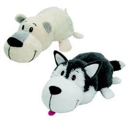 Мягкая игрушка 1Toy «Вывернушка. Хаски-Полярный медведь» 40 см