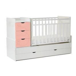 Кроватка-трансформер СКВ-Компани «СКВ-9 Бабочки» белый/розовый