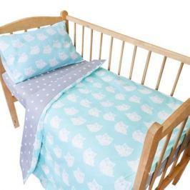 Комплект постельного белья Луняшки «Совята» 3 пр. зеленый