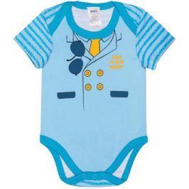 Боди с коротким рукавом для мальчика Barkito «Маленький пилот» 2 шт. белое с рисунком, голубое