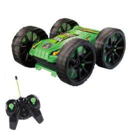 Машина-перевёртыш на радиоуправлении Hot Wheels трюковая черно-зелёная