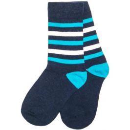 Носки для мальчика Barkito, графитовые с рисунком в полоску