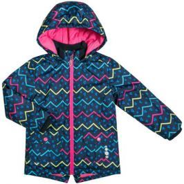 Куртка для девочки Barkito, темно-синяя с рисунком «геометрия»