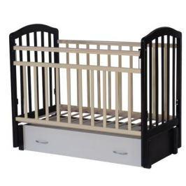 Кроватка Антел «Алита-6» продольн. маятник, ящик венге/слоновая кость