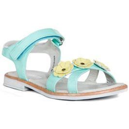 Туфли летние для девочки Barkito, светло-бирюзовый
