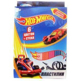 Пластилин и стека Hot Wheels 6 цветов