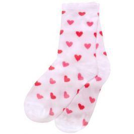 Носки для девочки Barkito, 3 пары, белые, белые с рисунком в полоску, белые с рисунком