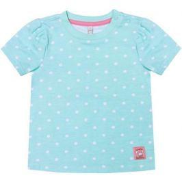 Блузка с коротким рукавом для девочки Barkito «Нежность», мятная с рисунком в горошек