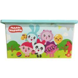 Ящик для игрушек Little Angel «Малышарики» на колесах 57 л