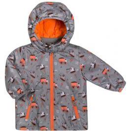 Куртка для мальчика Barkito, серая с рисунком «машинки»