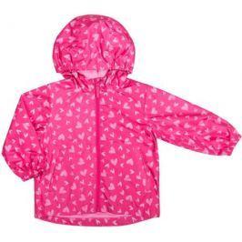 Куртка для девочки Barkito, фуксия с рисуком «сердечки»