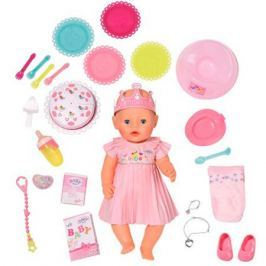 Кукла интерактивная BABY born «Нарядная с тортом» 43 см