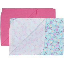 Комплект пеленок Barkito фланель 90х120 см 2 шт. розовая, мятная с рисунком