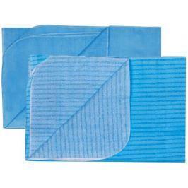 Комплект пеленок Barkito ситец 90х120 см 2 шт. голубая, голубая в полоску