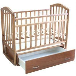 Кроватка Антел «Алита-4» попереч. маятник, ящик орех