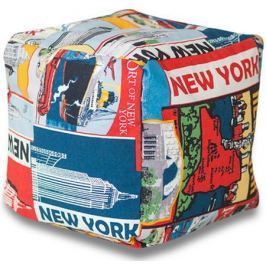 Пуфик DreamBag «New York» мультиколор