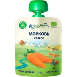 Пюре Fleur Alpine Organic Морковь с 4 мес. 90 г (пауч)