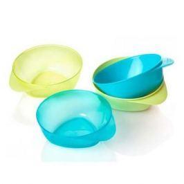 Набор глубоких тарелочек Tommee Tippee 4 шт. зеленые/голубые
