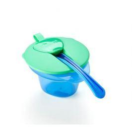 Тарелочка Tommee Tippee с отделением для разминания и охлаждения пищи зеленая
