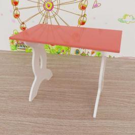 Стол Малина 40x67 см розовый