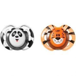 Набор силиконовых пустышек Tommee Tippee AnyTime «Весёлые животные» с рождения 2 шт. панда/тигренок